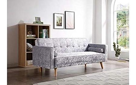 Sofá cama escandinavo de 3 plazas, moderno, con cierre de ...