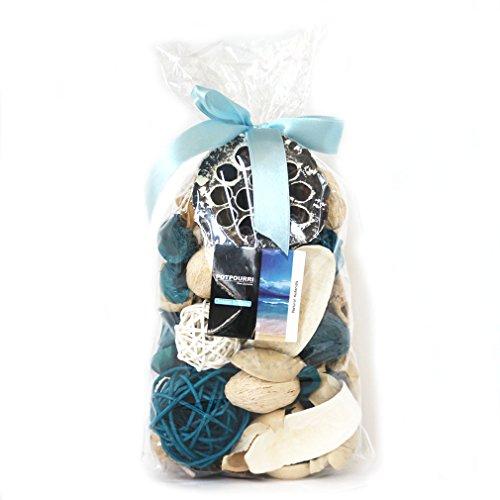 Qingbei Rina Gifts,Turquoise Potpourri Bag,including lotus pod,Flower,Petal,Pinone,Ratten Ball,Sepa Takraw,Perfume Satchet in Plastic Bags.Home Decoration.9.9oz.