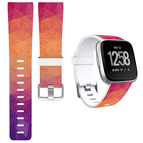 GreenInsync Compatible Fitbit Versa Smart Watch Bands, Special Editon Replacement for Fitbit Versa Accessory Band Buckle Adjustable Bracelet Strap Large for Fit Bit Versa Wristbands Girls Boys-A3