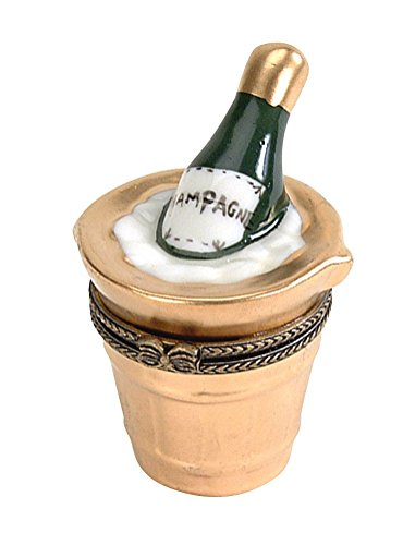 Navika PGA 19th Hole Celebrate Champagne Limoge Porcelain Box, Beige, ()