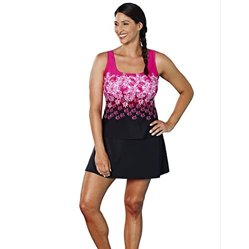 5a9a717c037 Aquabelle Women s Chlorine Resistant Exploded Floral Sport Top free shipping