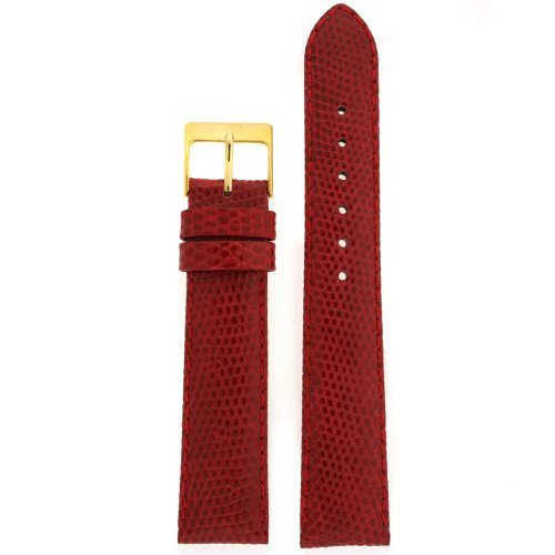 (18mm Red Watch Band Genuine Lizard)