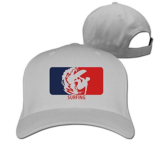 - Bali Surfing Wave Logo Ash Adjustable Baseball Hats For Man Woman