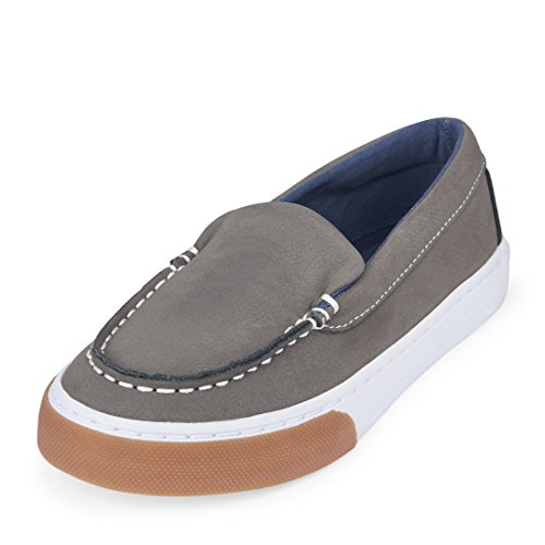 The Children's Place Kids' Sneaker,GREY-BB INDIE,1 M US Little Kid by The Children's Place