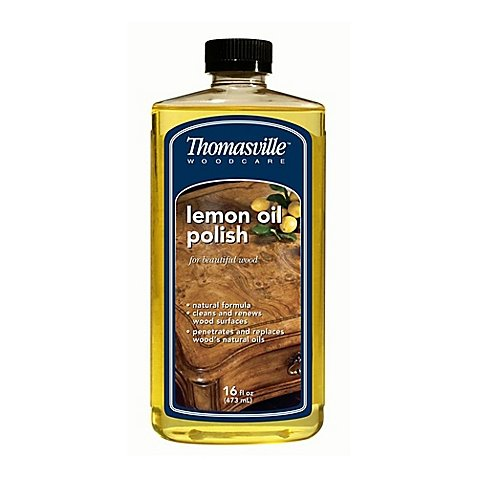 Thomasville Woodcare 16 oz. Lemon Oil Polish l Removes Grease and Dirt, and Leaves Behind a Pretty Shine