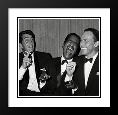 The Rat Pack (Carnegie Hall) 25x25 Framed and Double Matted Art Print. - Rat Pack Artwork