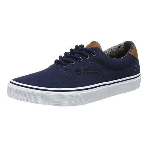 Vans Unisex Era 59 Skate Shoe, Dress Blues/Material Mix, 9 B(M) US Women / 7.5 D(M) US Men