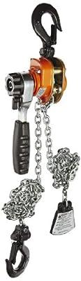 "CM 602 Series Mini Ratchet Lever Chain Hoist, 6-19/64"" Lever, 550 lbs Capacity, 5' Lift Height"