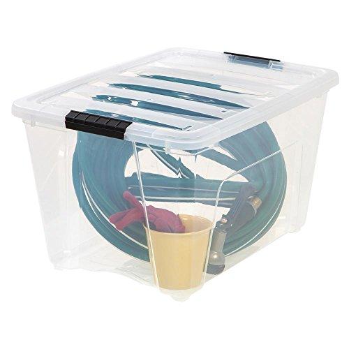 IRIS  Weathertight Storage Box, 54 Quart Stack and Pull - Clear by IRIS USA, Inc.