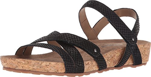 Walking Cradles Women's Pool Black Matte Snake Print/Cork Wrap 6 N US from Walking Cradles