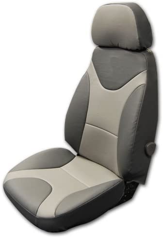 Iggee Caterpillar Cat 330 Cl Excavator Charcoal/Grey S.Leather Custom Fit Seat Covers (Charcoal/Grey)