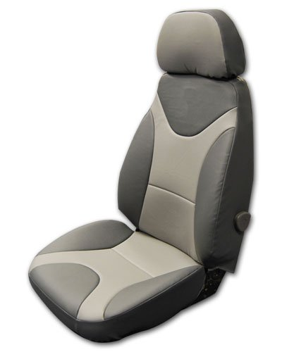 Custom Leather Seat - Caterpillar Cat 330 Cl Excavator Charcoal/grey S.leather Custom Fit Seat Covers (Charcoal/Grey)