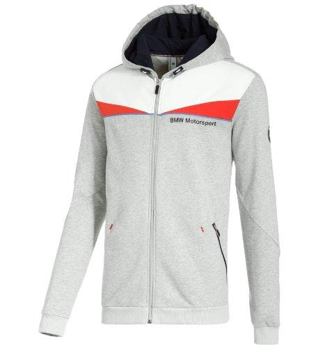 Puma Mens Sweat Jacket - PUMA Men's BMW Sweat Jacket, Light Gray Heather, Large