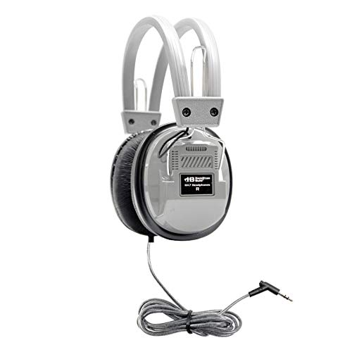 - HamiltonBuhl SchoolMate Deluxe Stereo Headphone Gray with 3.5mm Plug