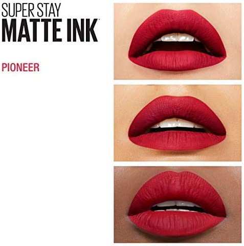 Maybelline New York - Superstay Matte Ink, Pintalabios Mate de Larga Duración, Tono 20 Pioneer