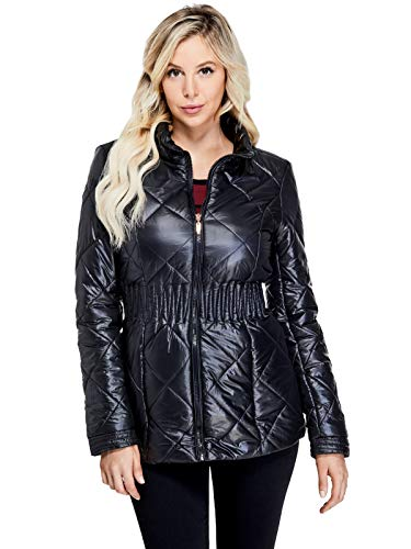 GUESS Factory Women's Chai Packable Puffer Jacket Jet Black
