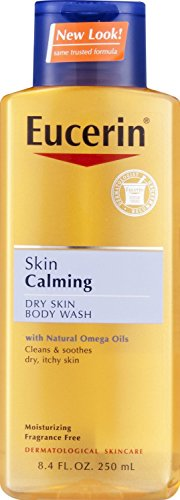 Eucerin Skin Calming Dry Skin Body Wash with Natural Omega Oils Fragrance Free, 8.4 Fluid Ounce (Bath Oil For Dry Skin compare prices)