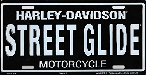 Harley-Davidson Street Glide Metal License Plate Chroma Graphics