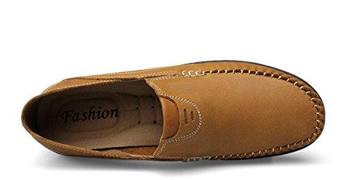 TDA ,  Herren Durchgängies Plateau Sandalen mit Keilabsatz , beige - khaki - Größe: 43 EU