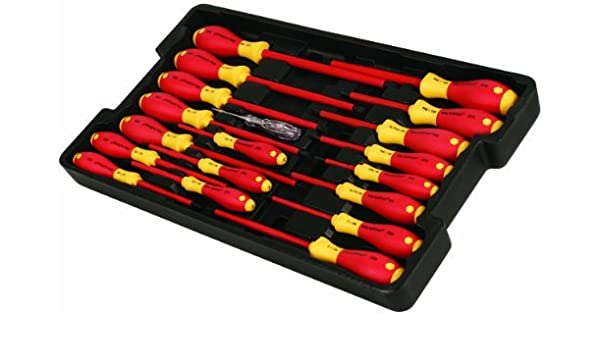 Wiha 32099 Insulated Slotted//Phillips 7 Piece Screwdriver Set