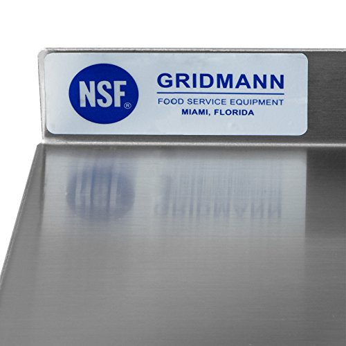 GRIDMANN NSF Stainless Steel Commercial Kitchen Prep & Work Table w/Backsplash - 72 in. x 24 in. by GRIDMANN (Image #5)