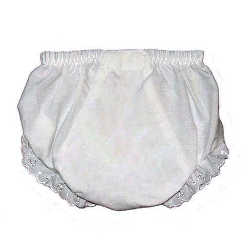 I Craft for Less Baby Diaper Covers Embroider Blank Bloomers- White - 12 months