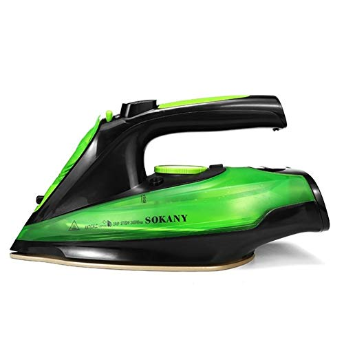 2400W Steam Iron 5 Speed Adjust Cordless Wireless Charging Portable Clothes Ironing Steamer Portable Ceramic Soleplate (Color : Green)