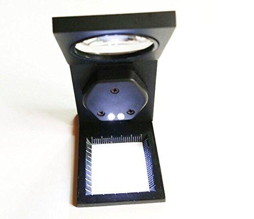 Komingo Sold Folding Staff Pocket Metal 10x Magnifying