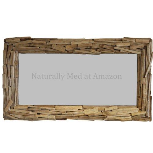Naturally Med Treibholz Spiegel Grosse 110cm X 60cm Amazon De