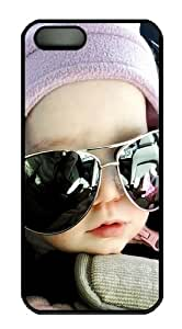 funny baby Custom iPhone 5s/5 Case Cover Polycarbonate Black by supermalls