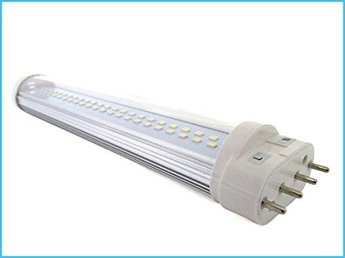 Lampada Led Attacco 2g11 4 Pin 9w 225mm Bianco Caldo 220v