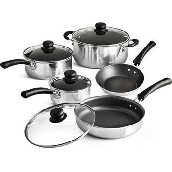 Tramontina 9 piezas Simple cocina batería de cocina antiadherente ...