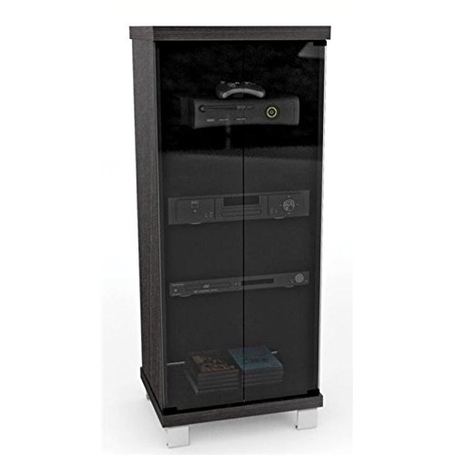 BOWERY HILL Audio Rack in Ravenwood Black by BOWERY HILL