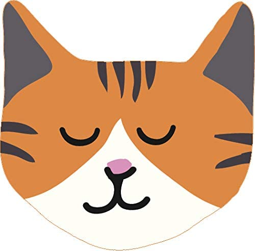 Amazon Com Simple Sweet Kitty Cat Face Cartoon Vinyl Sticker 4