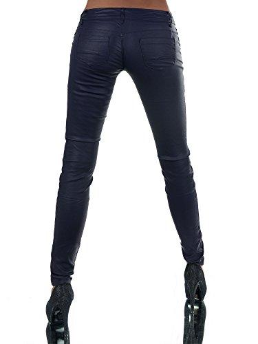 para Vaqueros Oscuro Jeans Skinny Azul Básico Diva Mujer F14xp