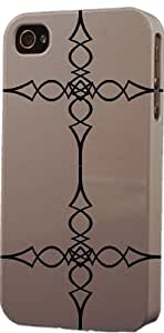 Grey Wrought Iron Pattern Dimensional Case Fits Apple iPhone 5 or iPhone 5s