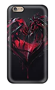 Defender Case For Iphone 6, Blood Heart Diamond Pattern