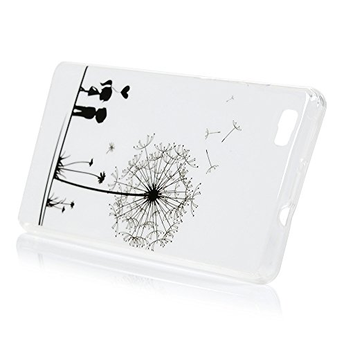 YOKIRIN Huawei P8 Lite Smartphone Case Coque TPU Souple Motif Amour sous le Pissenlit