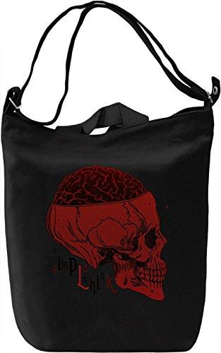 Brain Skull Borsa Giornaliera Canvas Canvas Day Bag  100% Premium Cotton Canvas  DTG Printing 