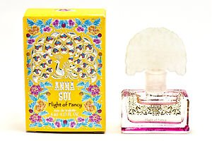 (FLIGHT OF FANCY By Anna Sui. Eau De Toilette 4ml-0.13fl.oz. For Women. SPLASH. MINI(Note* Minis Approximately 1-2 Inches in Height). Boxed )