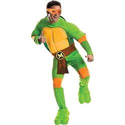 Rubie's Men's Teenage Mutant Ninja Turtles Deluxe Adult Muscle Chest Michelangelo, Green, Standard