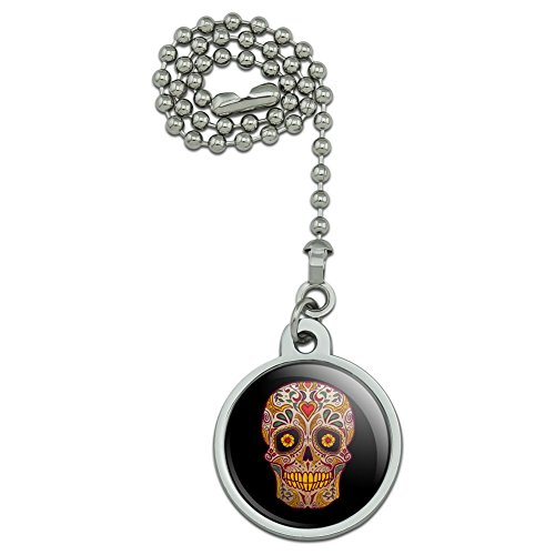 - GRAPHICS & MORE Skull Day of The Dead Southwestern Ceiling Fan and Light Pull Chain