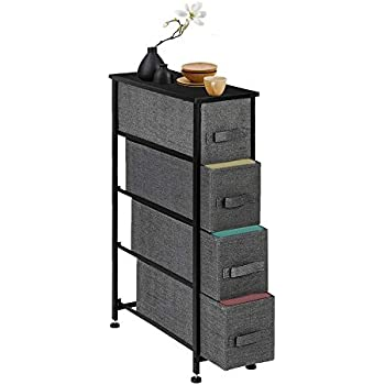 Amazon Com Narrow Dresser Vertical Storage Unit With 4