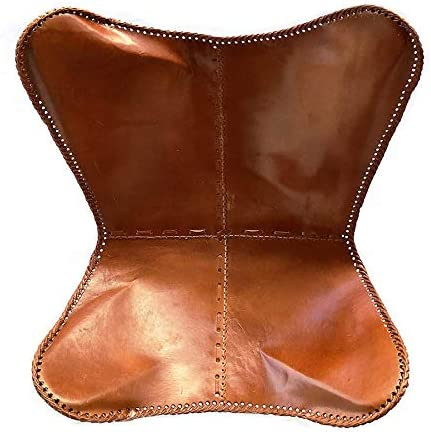 Leder_artesan a Present by Handmade Tan Leather Arm Chair Cover Leather Butterfly Chair Home Decor