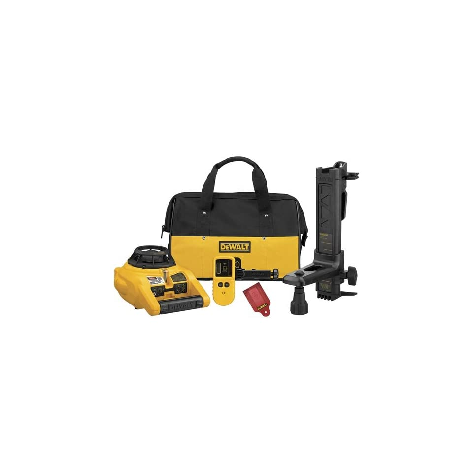 Dewalt Self Leveling Rotary Laser   Int/Ext w/ Tripod and Grade Rod