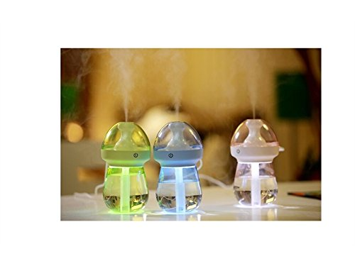 Yunqir Compatible Vehicle Humidifier USB Night Lamp Spray Humidifier Humidifier Home Office (Green)