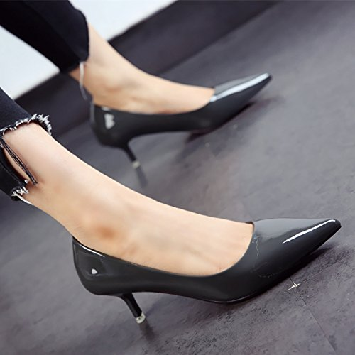 donna a FLYRCX brevetto autunno personalità e belle scarpe Primavera moda i espositore tacchi punta scarpe WXXq4PZ