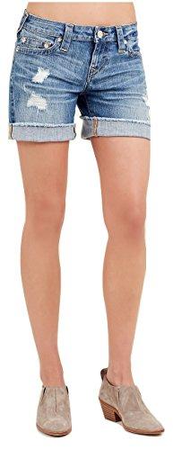 True Religion Women's Mid Cut Off Jean Shorts (28)