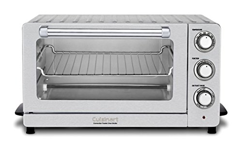 Cuisinart TOB-60NFR Toaster Oven Broiler with Convection (Certified Refurbished), Silver (Refurbished Tray)