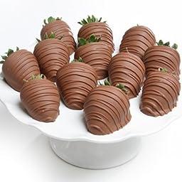 Belgian Milk Chocolate Covered Strawberries - 6 piece